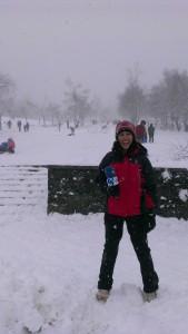 Temporal de nieve en Urkiola
